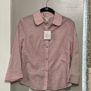 Anthropologie Odille dotted button up top